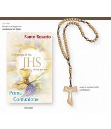 Corona rosario legno con Tau